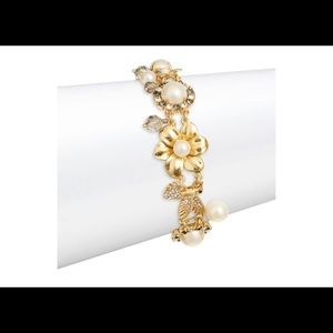New Kate Spade Gold Pearl and wild Garden Bracelet